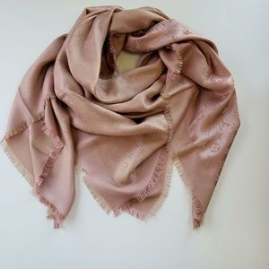 Louis Vuitton Oversized Monogram Pink Silk Scarf